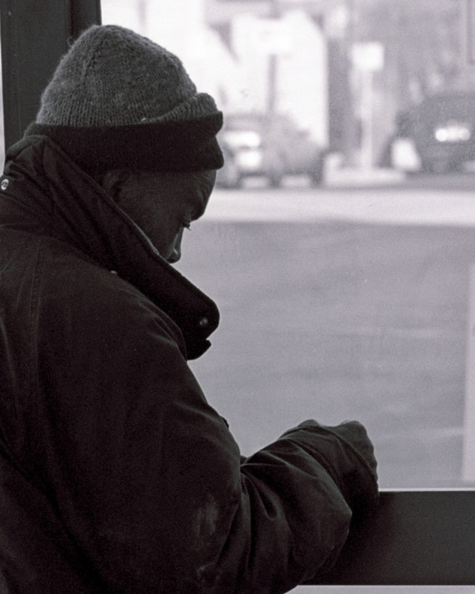 Homeless Man in the City