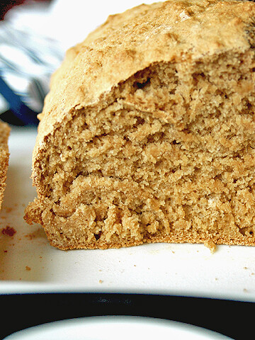close-up of beer bread