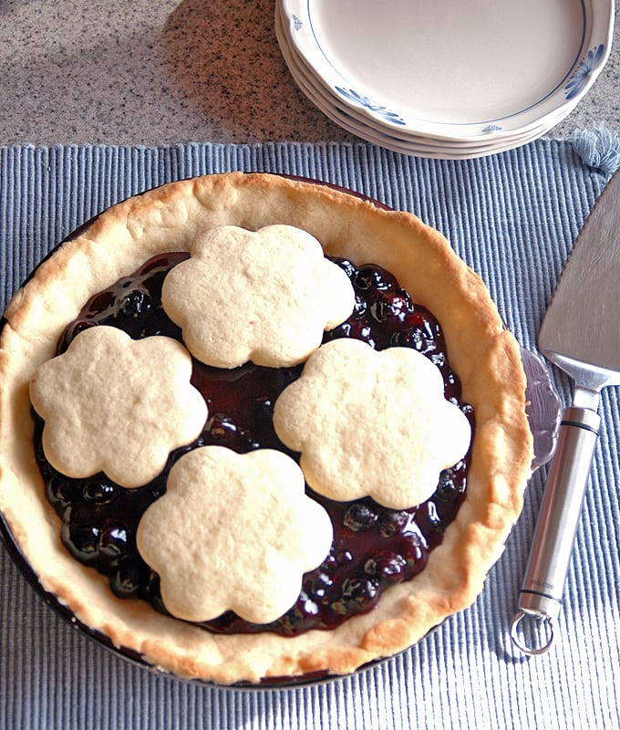 Blueberry Pie with Sugar Cookie Crust