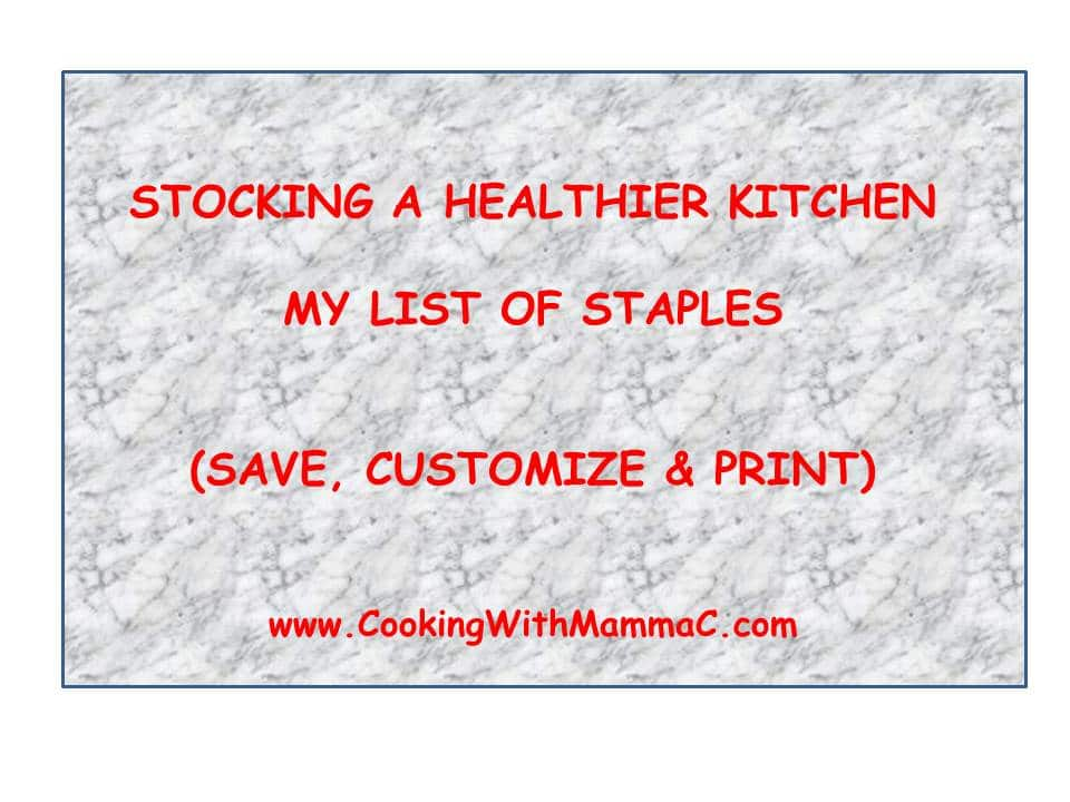 My Kitchen Staples