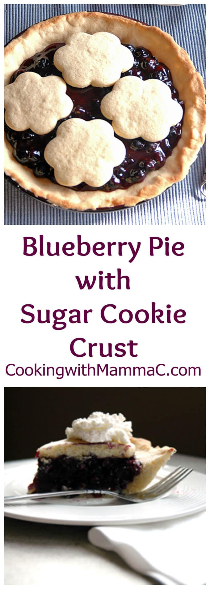 Blueberry Pie with Sugar Cookie Crust is our favorite summer dessert! I've been making this for years, and everyone loves it!