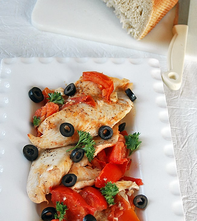 Nonna's Fish with Tomatoes