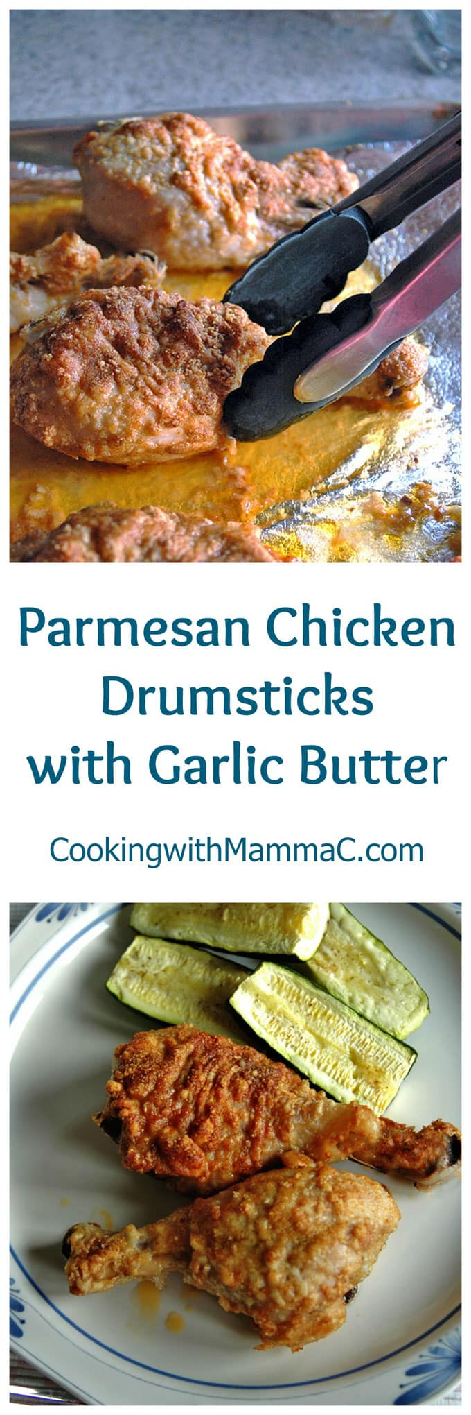 Parmesan Chicken Drumsticks with Garlic Butter - a family favorite that's gluten free! Serve with bread to soak up the delicious garlic butter.