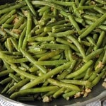 close-up of Green Beans with Bread Crumbs