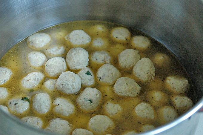 Nonna's Chicken Meatball Soup