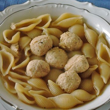 Nonna's Chicken Meatball Soup