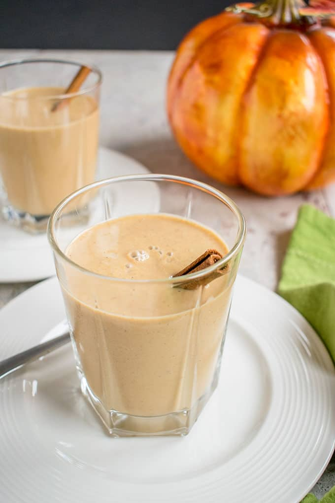 Photo of Pumpkin Smoothie with cinammon stick