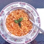 Pasta e Fagioli in bowl