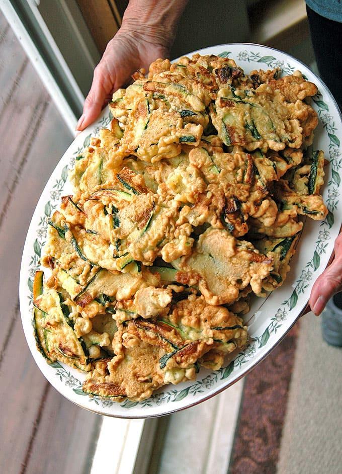 Nonna's Batter Fried Zucchini