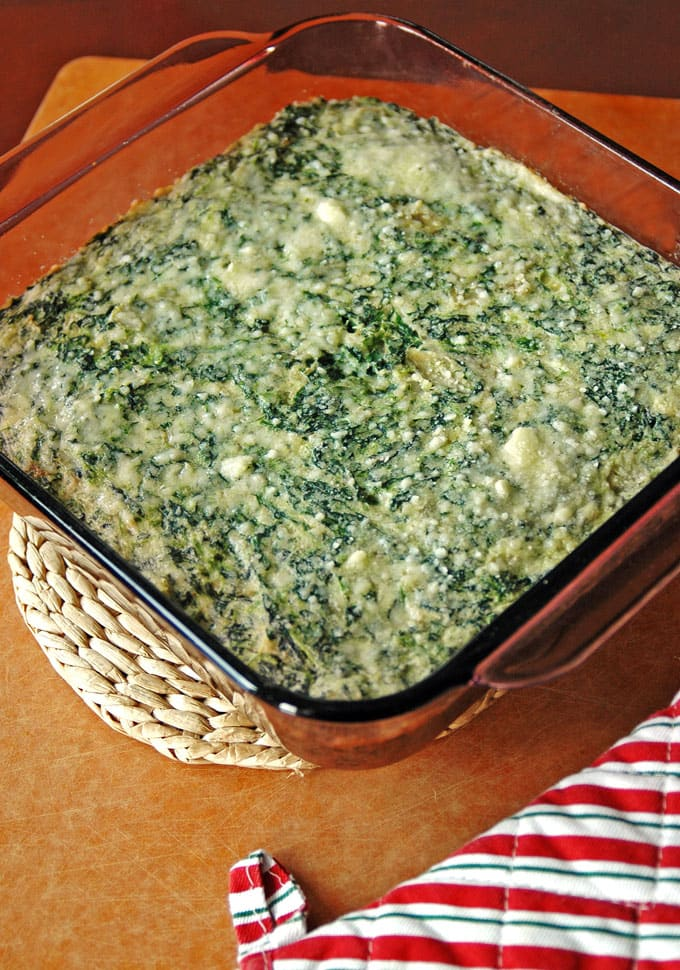 Creamed-Spinach-and-Artichoke-Casserole
