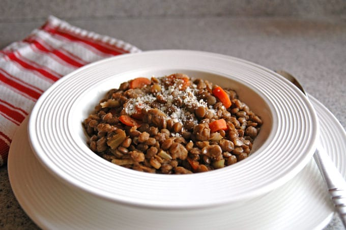 Smoky Lentil Stew in a bowl