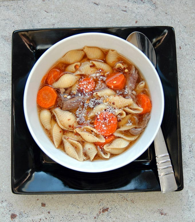 Italian-Beef-Soup-with-Pasta-Shells