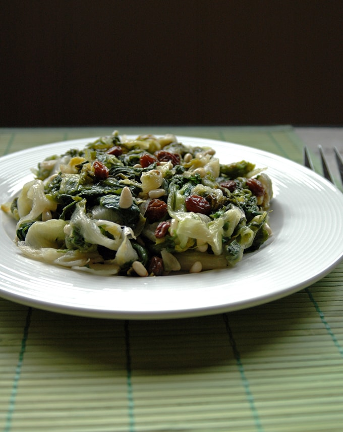 Escarole-with-Raisins-and-Pine-Nuts