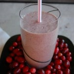 glass of Cranberry Creamsicle Smoothie