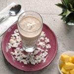 Pina Colada and Banana Breakfast Smoothie
