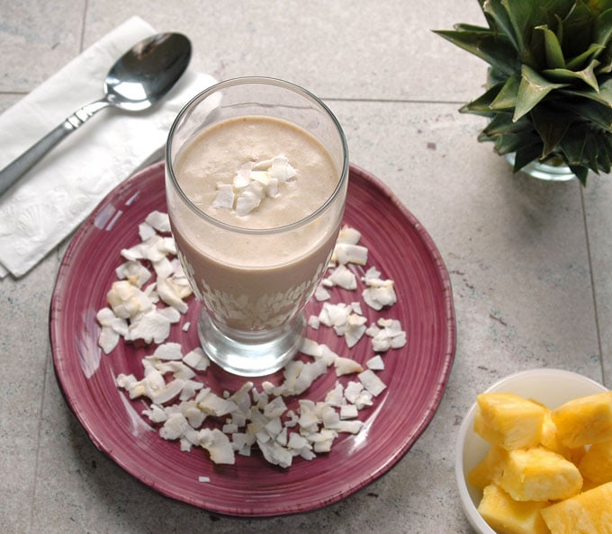 Pina-Colada-and-Banana-Breakfast Smoothie