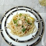 Bucatini with Clams and White Wine