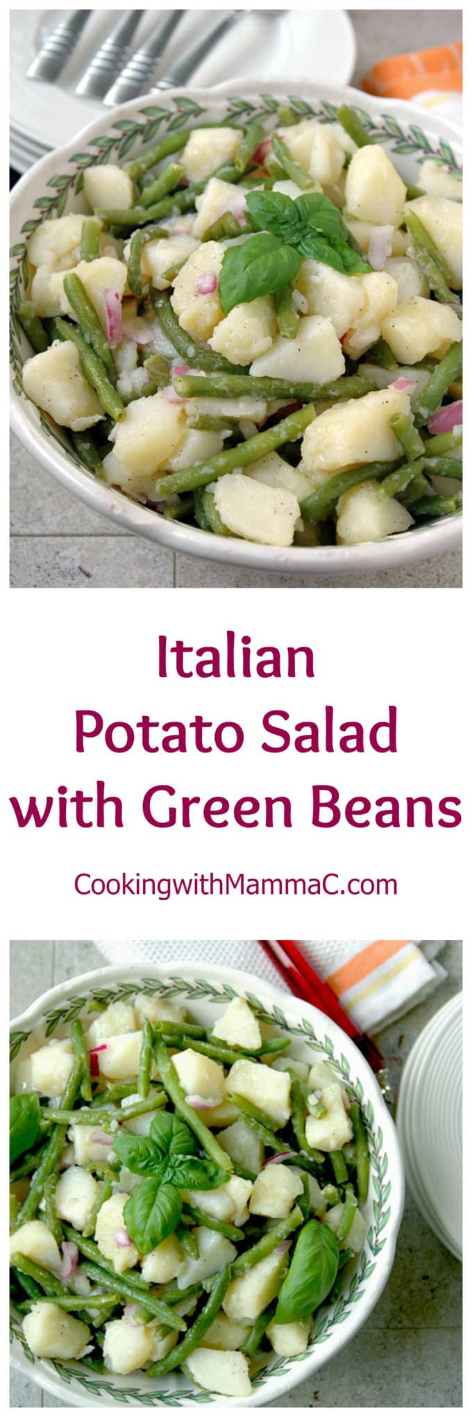 Italian Potato Salad with Green Beans - the best potato salad from Naples! Vegan, gluten free and perfect for your next BBQ or potluck!