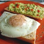 Basted Eggs with Guacamole Toast