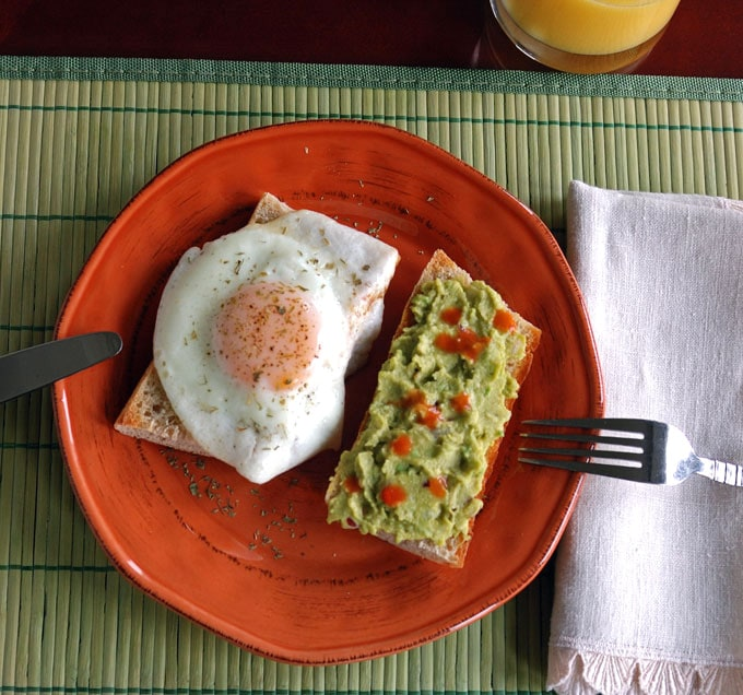 Basted Eggs with Guacamole Toast - The best way to cook perfect eggs! If you love avocado toast, this is even better! A great Tex-Mex breakfast.