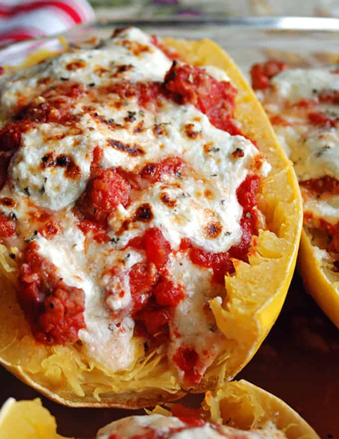 Photo of Spaghetti Squash Lasagna Boat