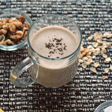Glass mug of Espresso Banana Smoothie