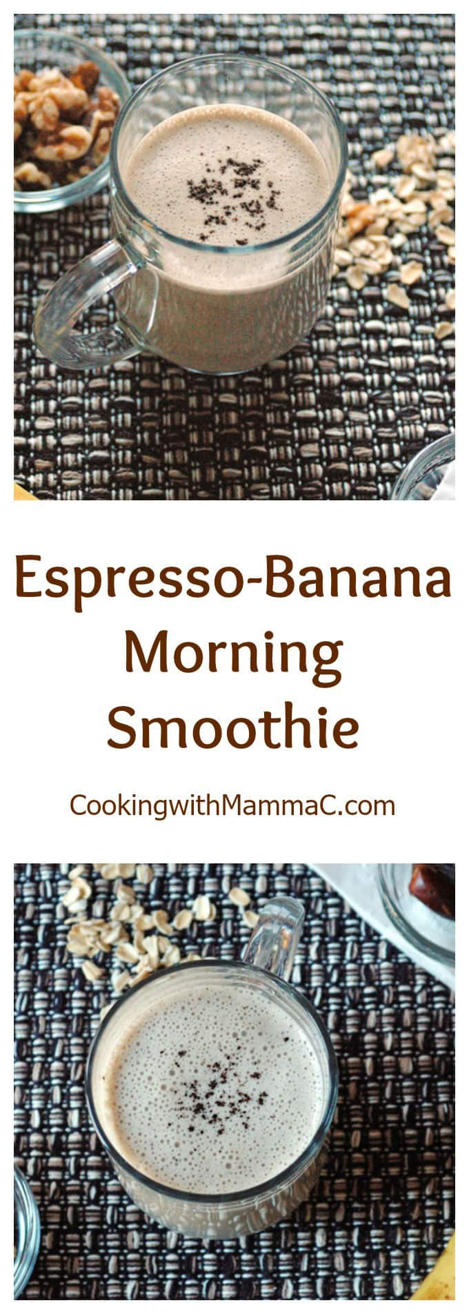 Espresso-Banana Morning Smoothie - A delicious morning beverage that's vegan and gluten free! If you love coffee, this is for you!