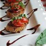 Tomato Bruschetta with Balsamic Glaze