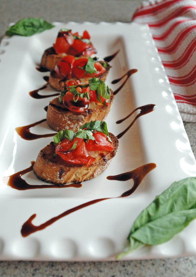 Top 10 Recipes and Highlights of 2016 on Cooking with Mamma C - Tomato Bruschetta with Balsamic Glaze