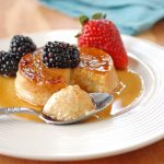 Low-Fat Maple Flan with Berries