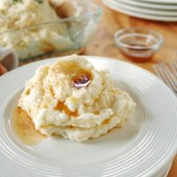 Amish brown butter mashed potatoes on a plate