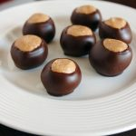 Buckeye Candy Recipe - peanut butter balls dipped in chocolate!