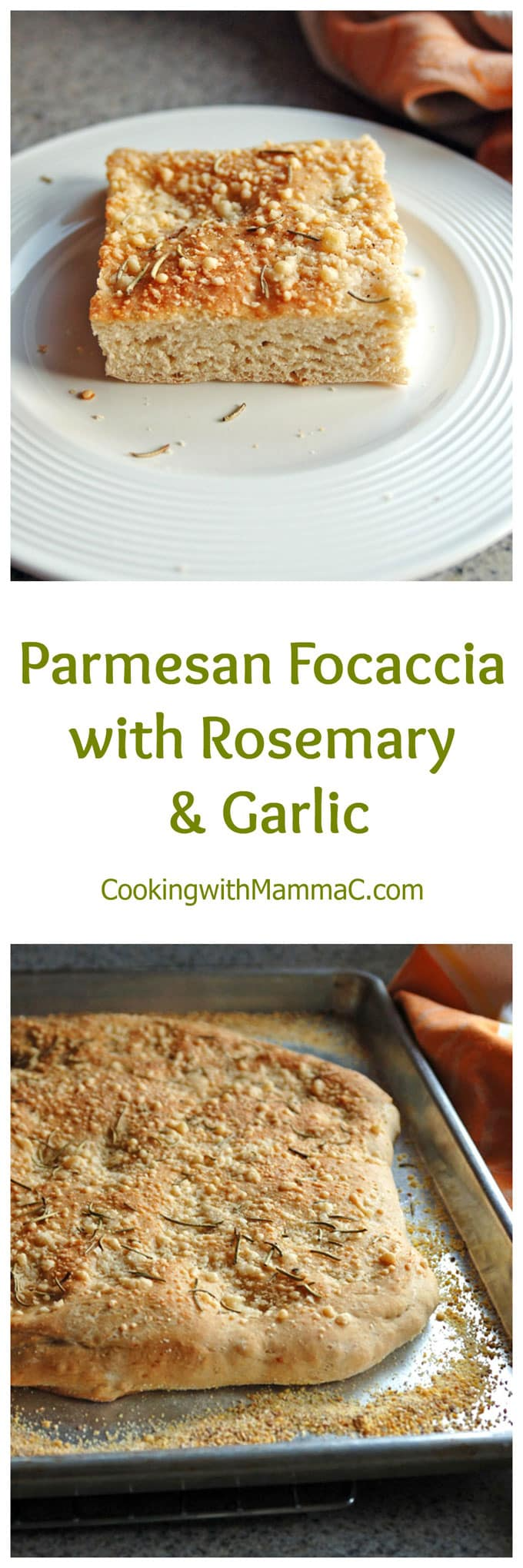 This easy Parmesan Focaccia with Rosemary and Garlic takes just one hour! Delicious with a 50-50 combination of white and whole wheat flour.