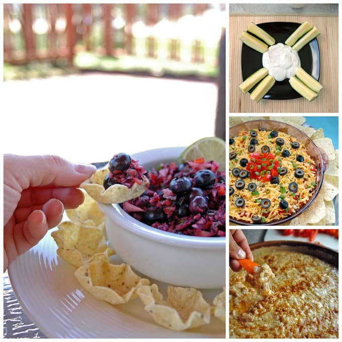 PlanYour 4th of July Menu with Appetizer Dips, Entrees, Salads, Vegetable Side Dishes and Desserts!