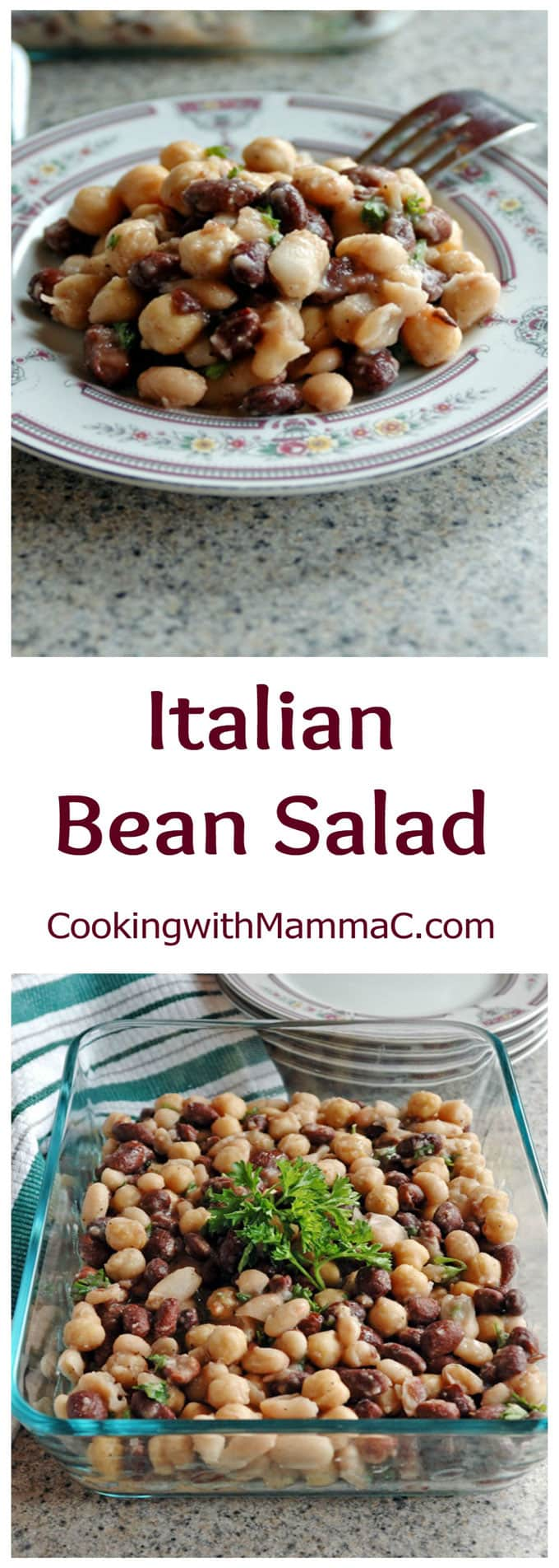 This delicious Italian Bean Salad is quick, easy, vegan and gluten free! Perfect for your next potluck.