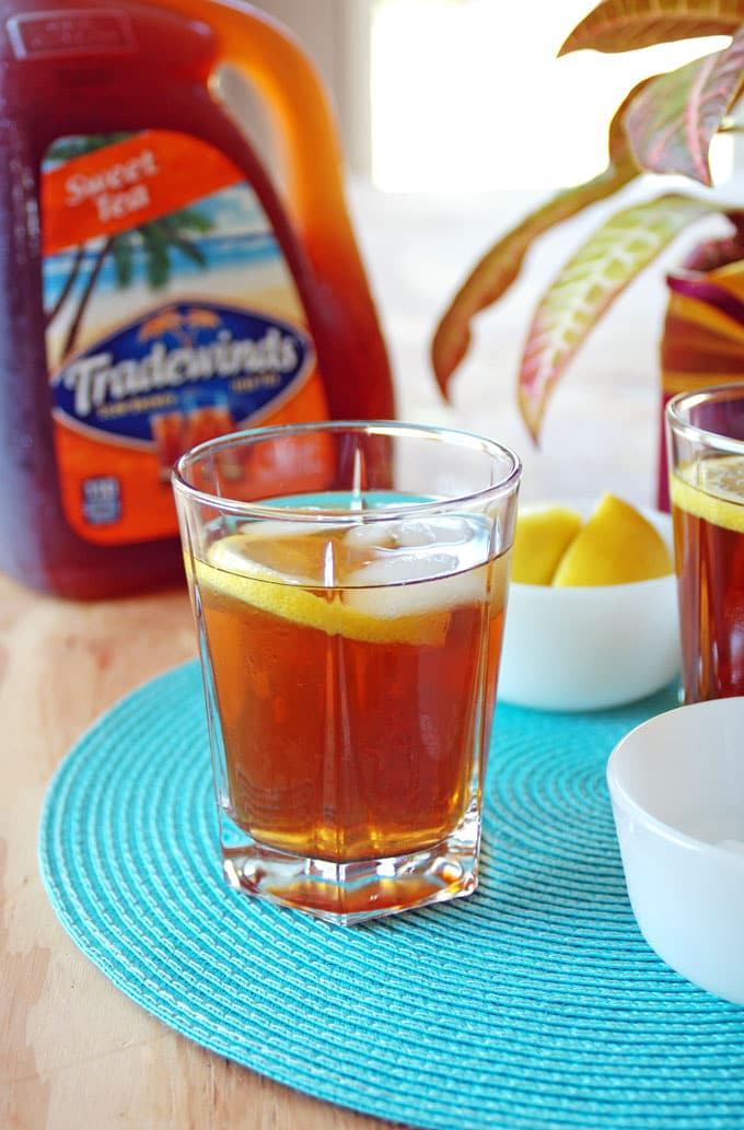 This Iced Tea and Rum Cocktail has just three ingredients and is so refreshing! An easy summer drink to enjoy with friends.