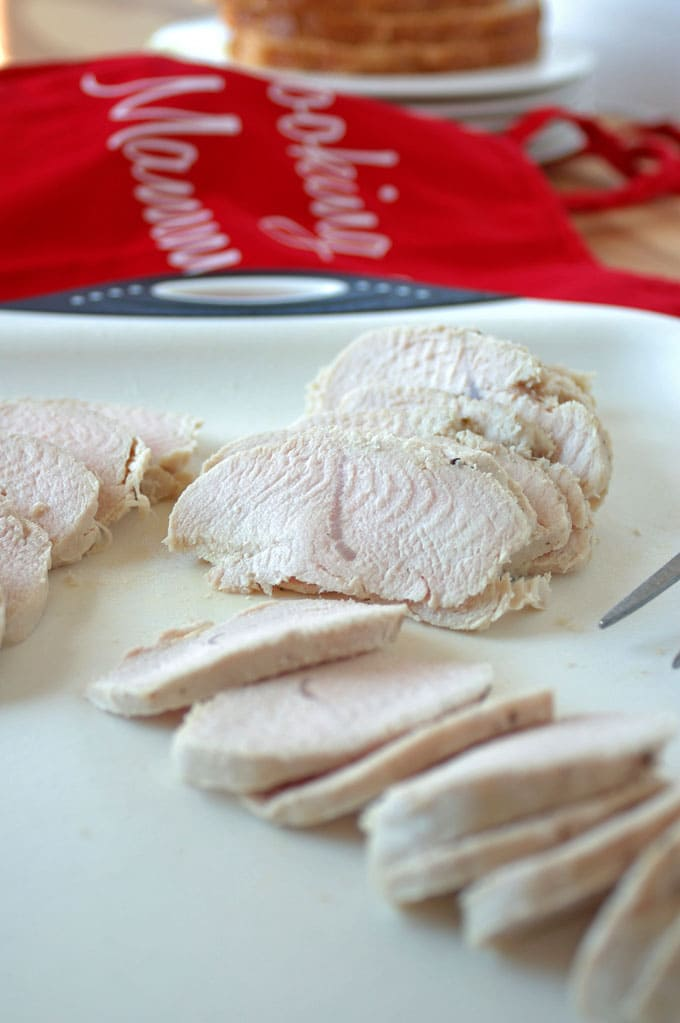 Homemade Turkey Lunch Meat is so easy! In just over 30 minutes, you'll have delicious, juicy sandwich meat that's healthier than what you can buy at the deli!