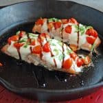 Salmon Caprese with Balsamic Glaze