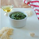 Mom's Pesto with Pecorino Romano is the best! It'll become your go-to recipe for basil pesto sauce!