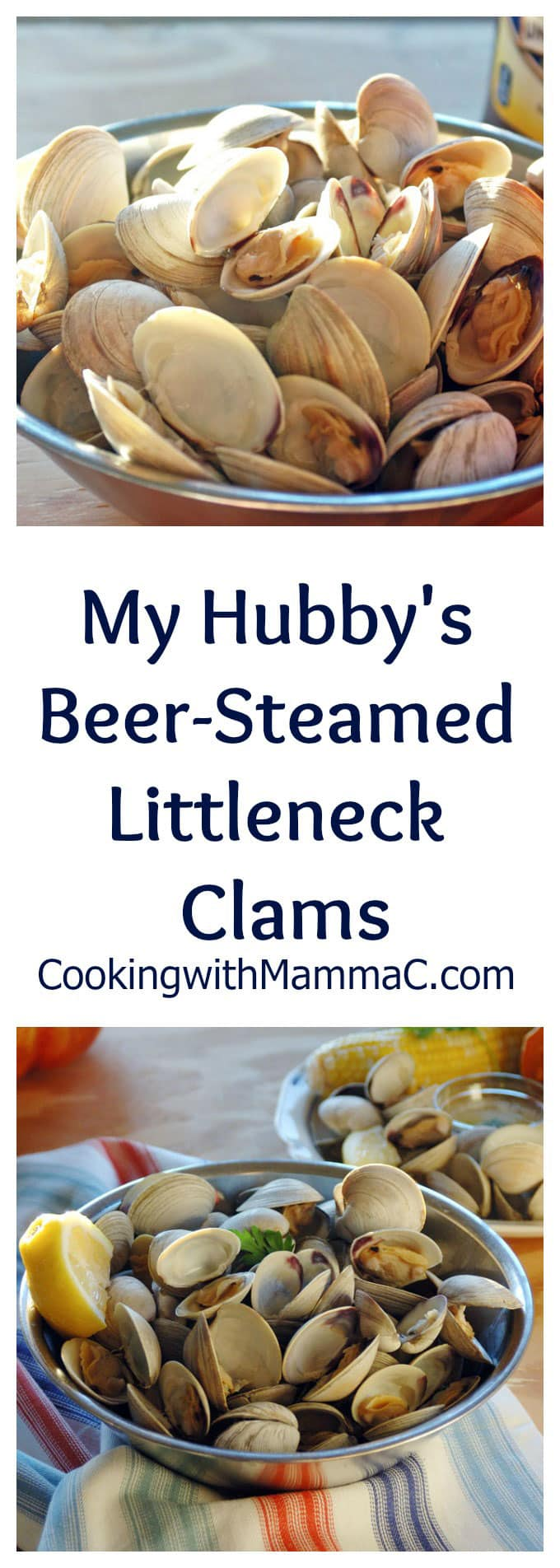 My Hubby's Beer-Steamed Littleneck Clams are so good dipped in melted butter! Plus, I'm sharing his tips for how to clean clams. #sponsored #MomentstoSavor #Tradewinds