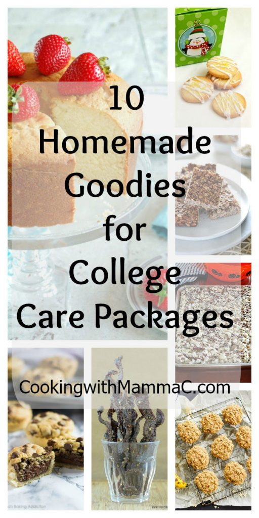 10 Homemade Goodies for College Care Packages - If you need care package ideas, check out these recipes, plus my tips for sending a care package to your college student!