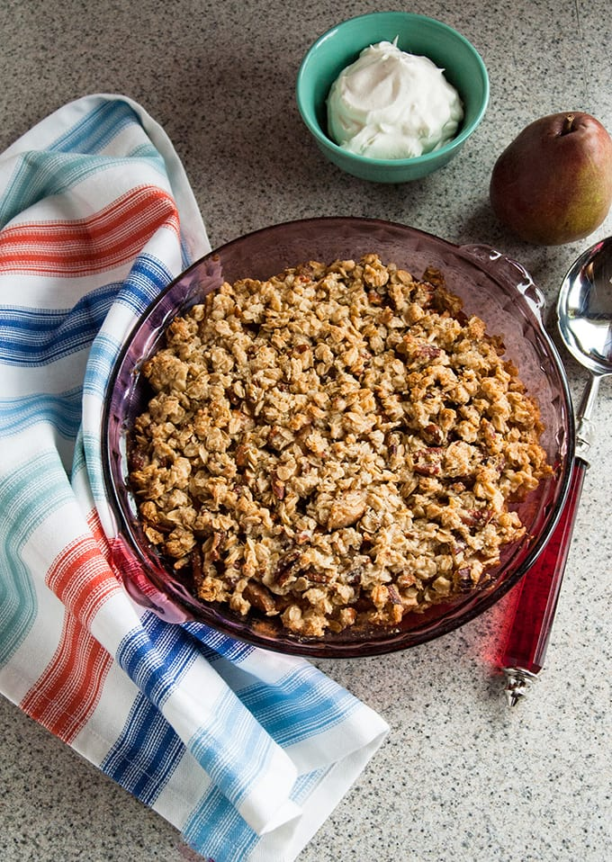 Awesome Gluten-Free Pear Crisp | Vegan | Dessert | Healthy | No Refined Sugar