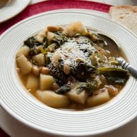 Tuscan White Bean Soup with Escarole and Potatoes