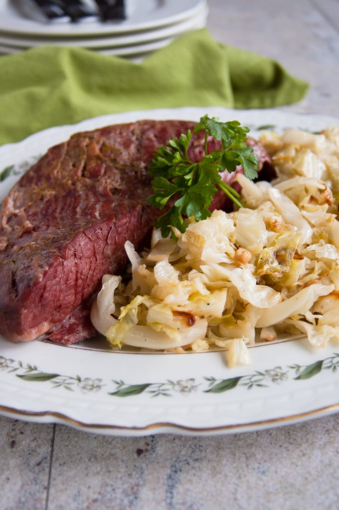 Corned Beef and Italian Sauteed Cabbage - Mom's recipe is so delicious! | St. Patrick's Day | Dinner | Gluten Free
