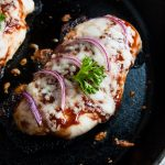 Cheesy Baked BBQ Chicken Breasts with Onions