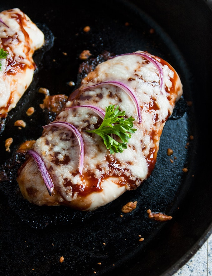 Cheesy Baked BBQ Chicken Breasts with Onions - So quick & easy! | 30 Minute Meals | Gluten Free | Low Carb