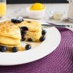 Easy Lemon-Blueberry Pancakes - A lemon lover's breakfast! So good.