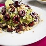 Guacamole with Cherries, Gorgonzola and Walnuts