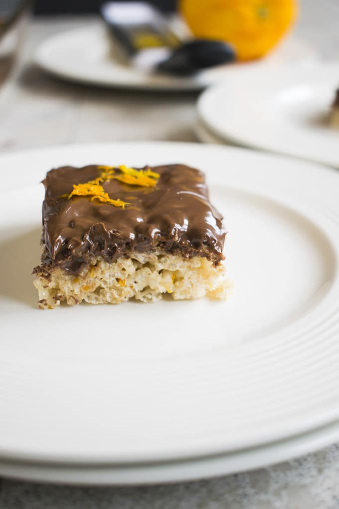 Nutella Rice Krispie Treats with Orange - An easy and fun dessert or snack!