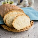 Homemade Italian Bread - Crusty, delicious and so easy! #bread #dough